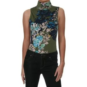 Free People Womens Pixie Bodysuit Floral